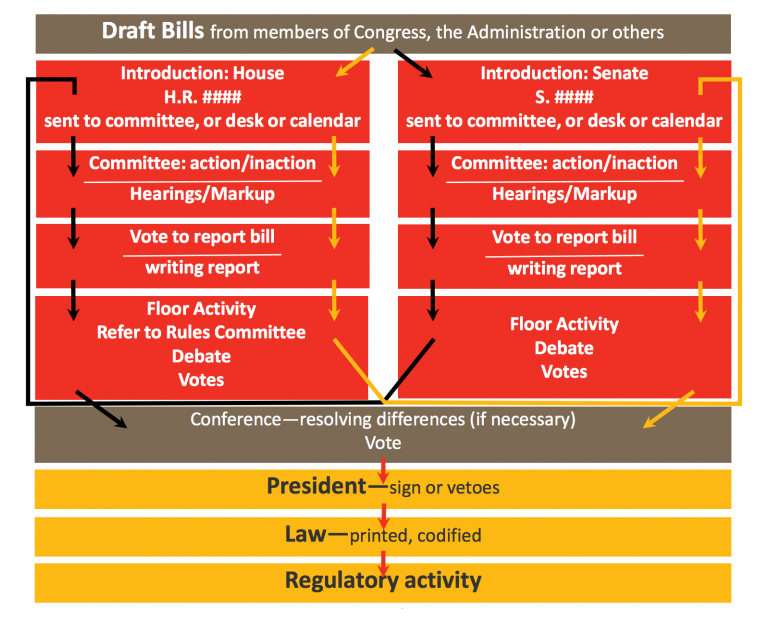 The Federal Legislative Process Or How A Bill Becomes A Law Naeyc