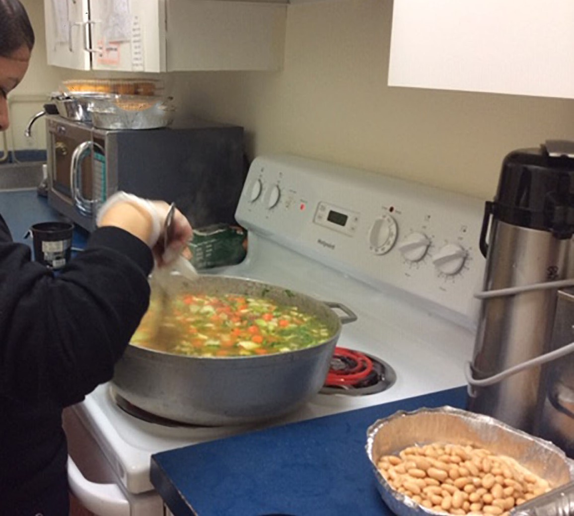 Children create soup, then launch into a discussion of scientific concepts related to cooking.