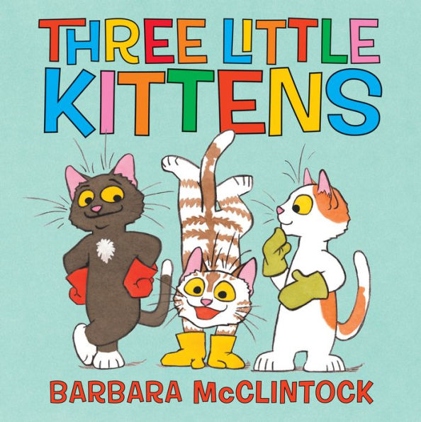 Book cover for Three Little Kittens.
