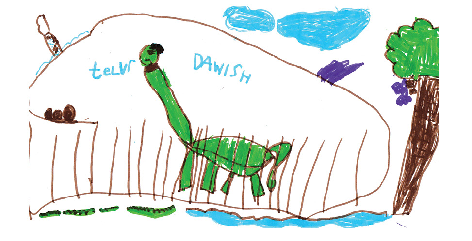 Children's drawing in color