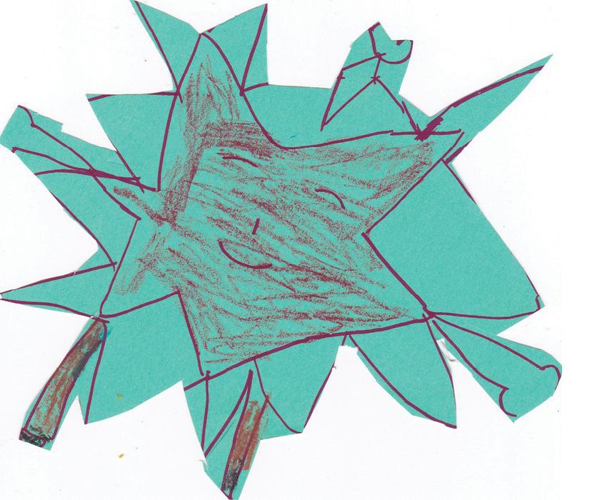 Children's artwork of a star