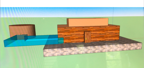 3D image sketch of house