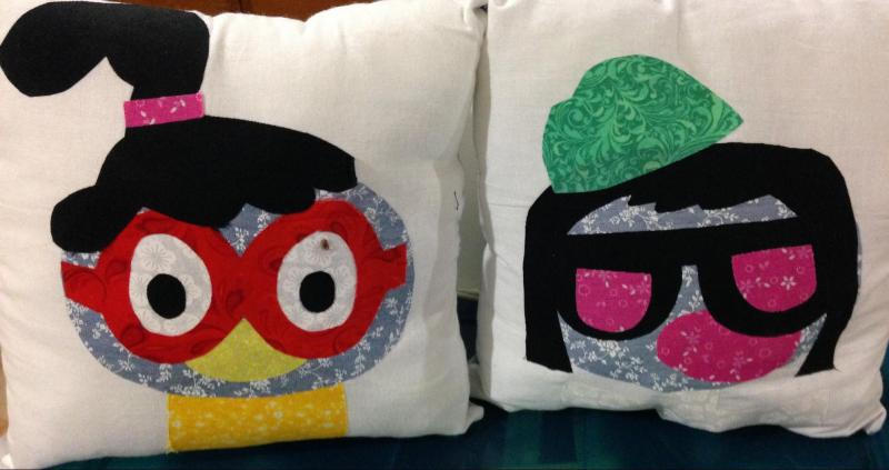 Pillow made by third grader for a Maker Fest