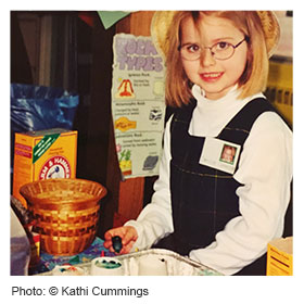 Young girl transitioning from kindergarten to first grade