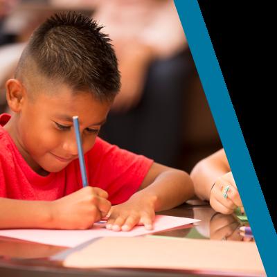 young latino doing homework