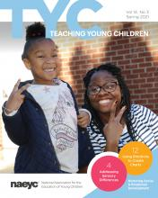 the cover of the publication Teaching young children, Volume 14, Number 3