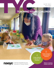 the cover of the publication Teaching young children, Volume 14, Number 5