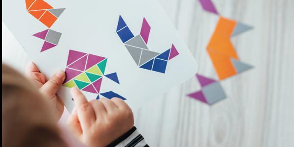 Children copying patterns