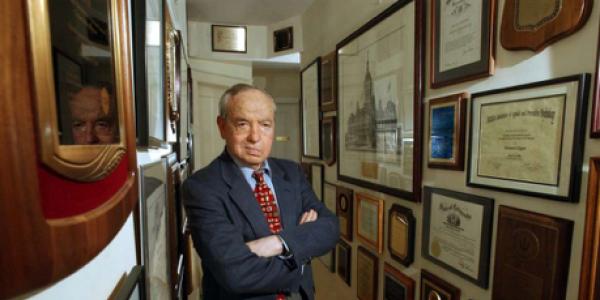 Ed Zigler outside his office at The Zigler Center 2005 – Diplomas (Wall of Fame)