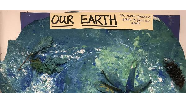 Classroom artwork: Our Earth