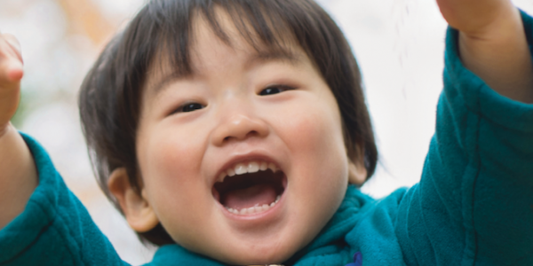 Asian child smiling