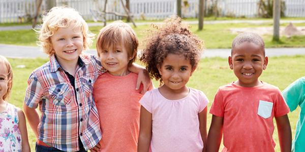 Group of young children