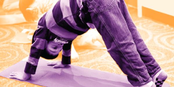Child doing yoga