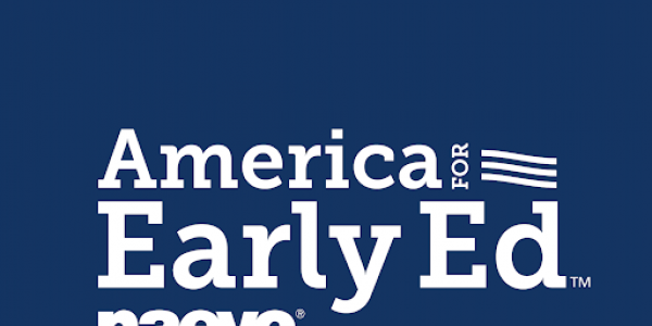 """Text that says """"American for Early Ed NAEYC"""""""