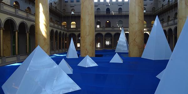 National Building Museum's ICEBERGS exhibit