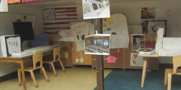 The children's command center inside their classroom