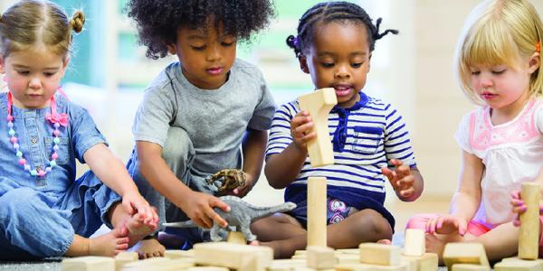 Does your block center promote 21st century skills a checklist children playing with blocks malvernweather Image collections