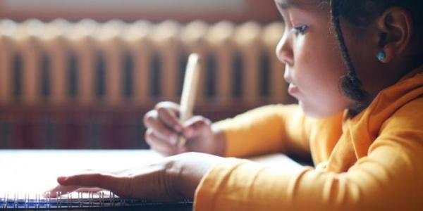 Young child drawing