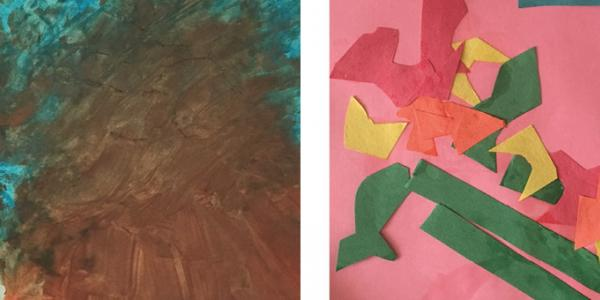 Child's abstract artwork