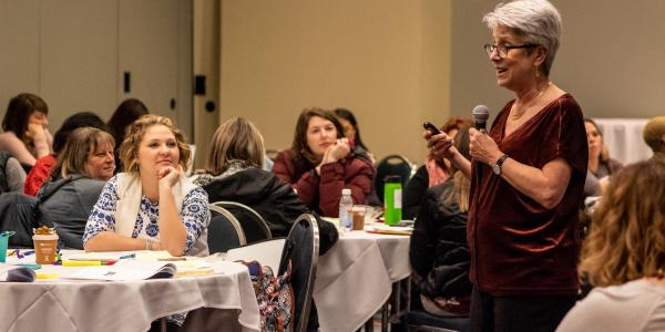 Presenter facilitates session during NAEYC's 2018 Annual Conference