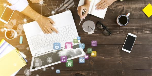 Electronic devices used to engage professionals
