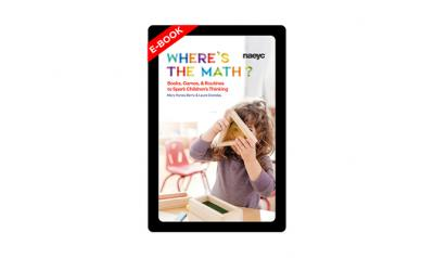 E-book cover of Where's the Math? Books, Games, and Routines to Spark Children's Thinking