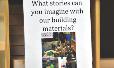 children with building materials
