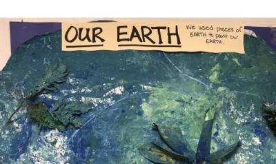 Classroom artwork: Our Earth
