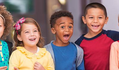 Happy preschoolers