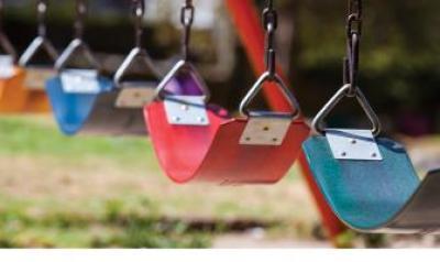 Colorful swings
