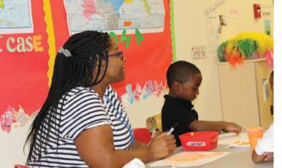 featured teacher talista murrill in a classroom with children