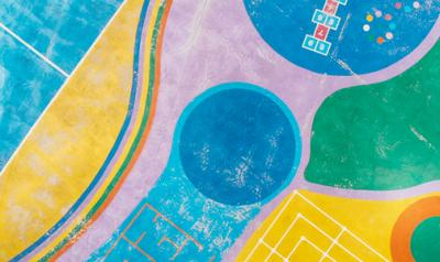 empty, colorful playground