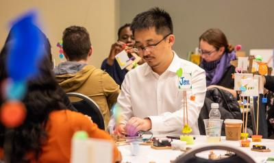 NAEYC Annual Conference attendees learning to make and tinker in a pre-conference workshop.