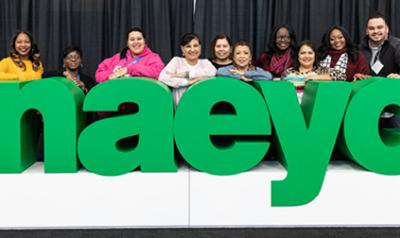 NAEYC 2018 Annual Conference attendees pose for a picture.