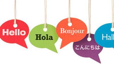 Multi language graphic greetings