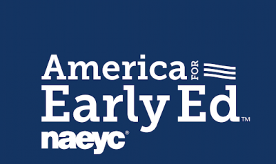 "Text that says ""American for Early Ed NAEYC"""