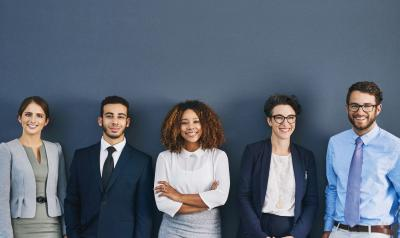 Group of young professionals