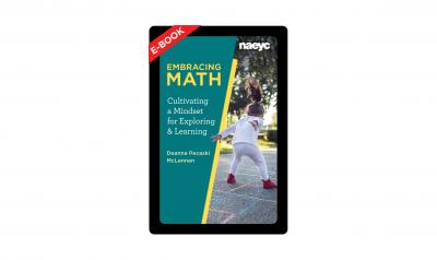cover of Embracing Math featuring  a little girl jumping and playing outside