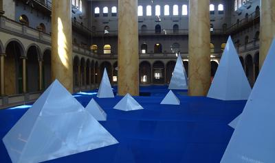 National Building Museum's ICEBERGS exhibit