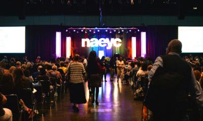 View of the opening speaker stage