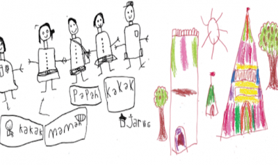 Drawings by children from around the world