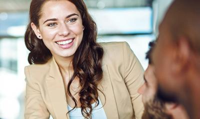 young woman interviewing