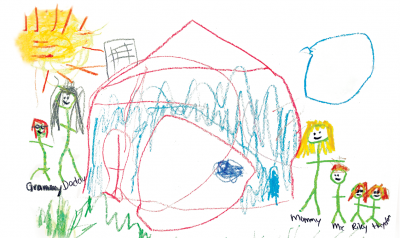 Child's drawing of their family