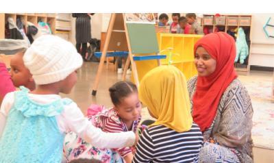 Diverse classroom of children and a teacher
