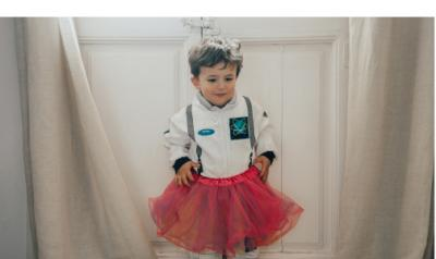 Young child in a tutu