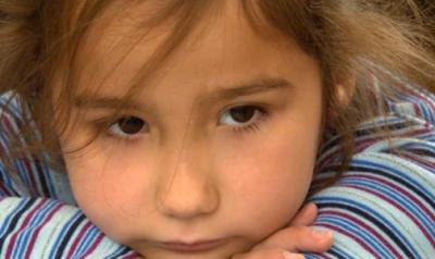 preschooler looking sad