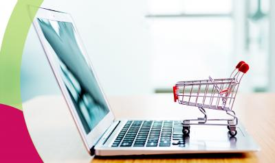 Computer and shopping cart