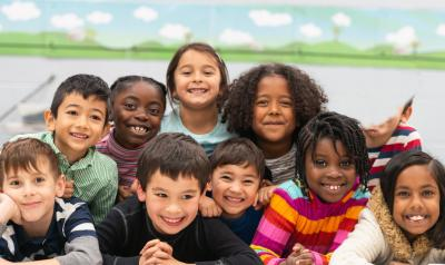 A group of children together