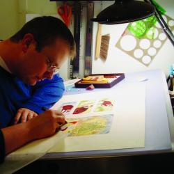 Steve Light in his studio