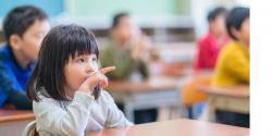 Early childhood student in class